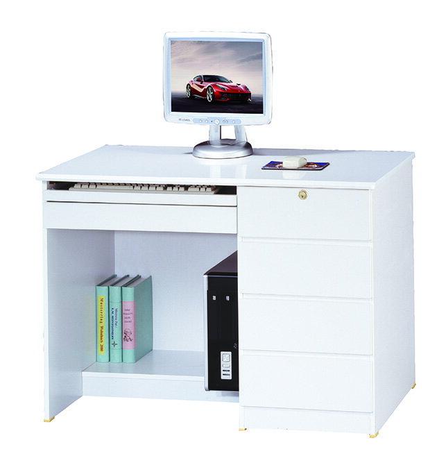 【尚品家具】JF-352-1 資訊3.5尺白色電腦桌下座