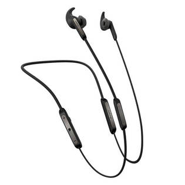 公司貨『JabraElite45e銀黑』藍芽耳機耳道頸掛式藍牙立體音效磁吸式IP54防塵防水可彎曲記憶鋼絲頸帶Ø12.4mm單體