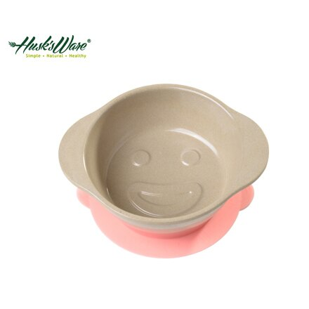 美國Husk's ware 稻殼天然無毒環保兒童微笑餐碗~粉紅色~悅兒園婦幼 館~