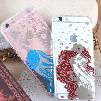 【Disney 】iPhone 6 Plus/6s Plus 時尚質感電鍍系列彩繪保護套-公主