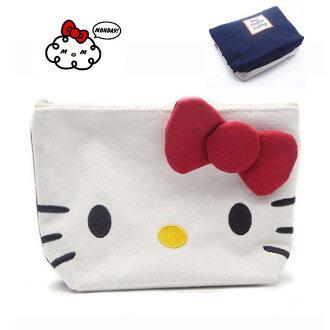 化妝包 Hello Kitty帆布收納包 手拿包【包包阿者西】