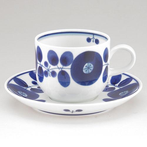 波佐見燒花開青花咖啡杯盤組