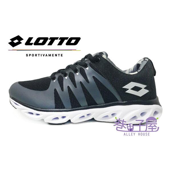 【巷子屋】義大利第一品牌-LOTTO樂得VENTI女款無車縫風動輕量跑鞋[3410]黑超值價$690