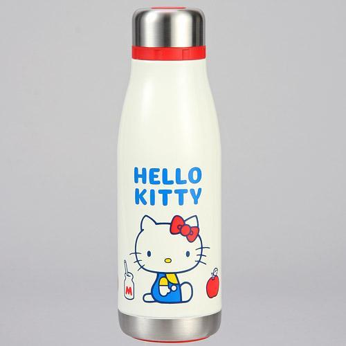【真愛日本】16082500040超輕量不鏽鋼保溫冷牛奶瓶400ml-KT70s  三麗鷗Hello Kitty凱蒂貓 水壺 水瓶