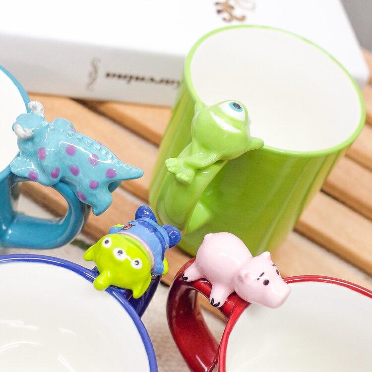 PGS7 日本迪士尼系列商品 - 日本 皮克斯 晚安 系列 馬克杯 三眼怪 豬排博士 毛怪 大眼仔 預購款【SEJ71286】