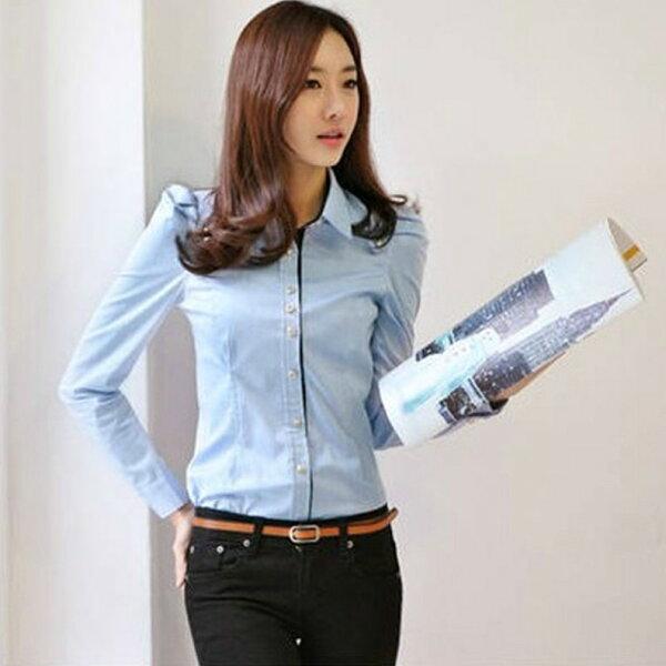 襯衫【心齋橋】韓版新款時尚合身長袖襯衫WWU1014(現+預)