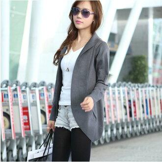 外套【心齋橋】韓版新款中長款氣質風長袖針織披肩外套FAN1092(現+預)
