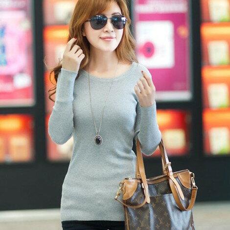 針織衫【心齋橋】韓版新款低領彈性合身長袖毛衣針織衫FAN1096(現+預)