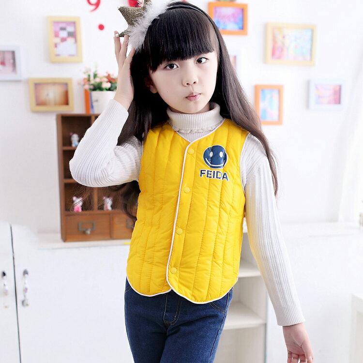 背心【心齋橋】韓版新款兒童羽絨棉馬甲羽絨背心FAN1446(現+預)