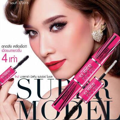 泰國Mistine SUPER MODEL 4D 二合一纖長濃密雙頭睫毛膏~AN SHOP