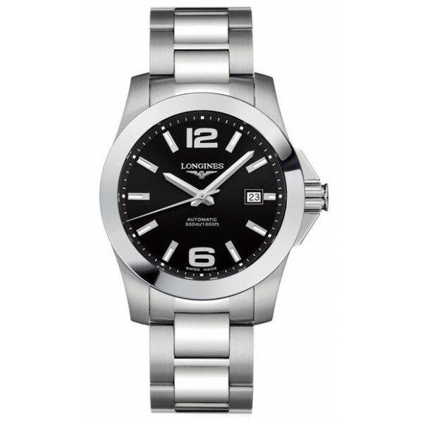 LONGINES L36774586經典征服者潛水機械男錶/黑面41mm