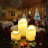 LED Candles Battery Operated Flameless Flickering smokeless 3 PCS/set Premium Votive Candles for Wedding/Party Decorations warm white 4