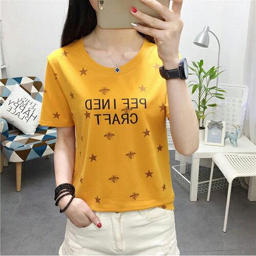 純棉印花T恤(4色M~XL)*ORead* 0
