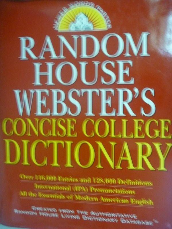 【書寶二手書T4/字典_ZDG】Random House Websters Concise