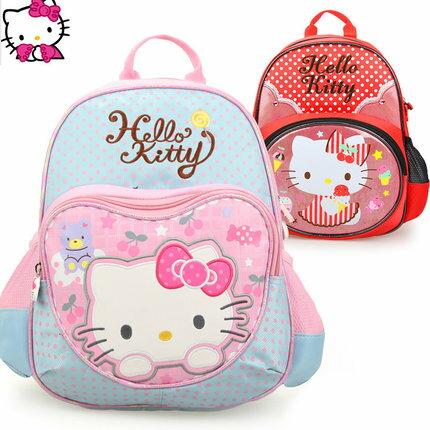 正版Hello Kitty 凱蒂貓 幼兒園書包 寶寶後背包3-6歲適合