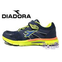 義大利國寶鞋-DIADORA迪亞多納 男童3E寬楦康特杯健康機能運動慢跑鞋 [3825] 藍綠【巷子屋】 0