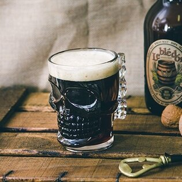 Kikkerland骷髏頭玻璃啤酒杯
