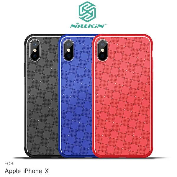 【愛瘋潮】99免運NILLKINAppleiPhoneX星奇手機殼保護殼手機殼半覆式