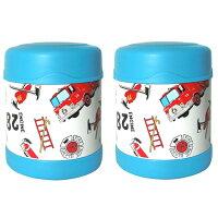 THERMOS 膳魔師保溫杯/保溫瓶/燜燒鍋推薦到膳魔師0.3L消防車不鏽鋼真空食物罐 F3001HRB6(超值2入組)