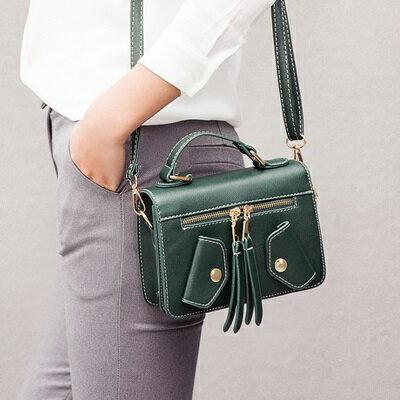 手提包純色肩背包-時尚口袋設計小方包女包包3色73sb31【獨家進口】【米蘭精品】