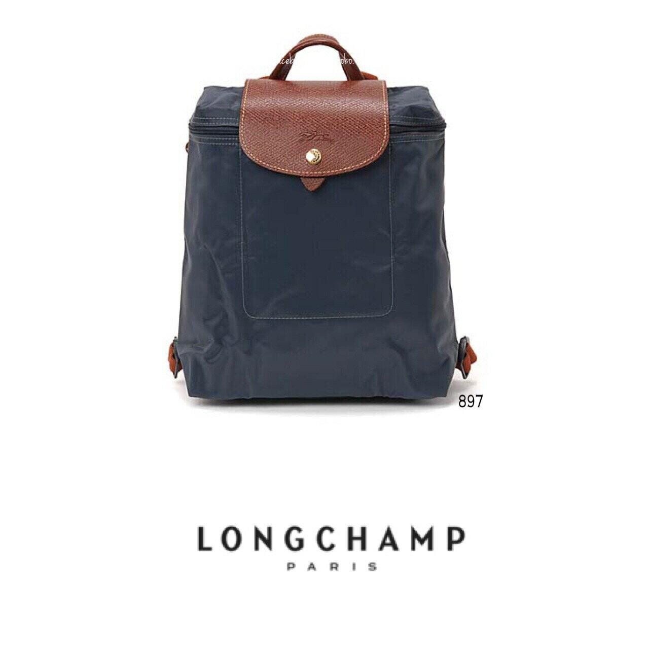 【LONGCHAMP】 LE PLIAGE 石墨灰折疊後背包 0