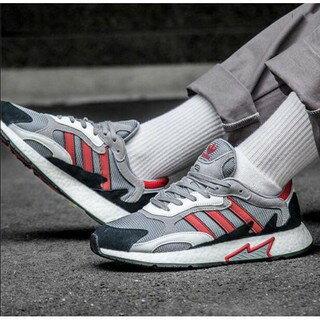 Adidas Originals TRESC RUN 灰灰紅麂