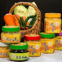 12罐優惠組合包(黃金泡菜辣味、黃金泡菜原味、黃金泡菜素食、黃金木耳、黃金海帶絲)