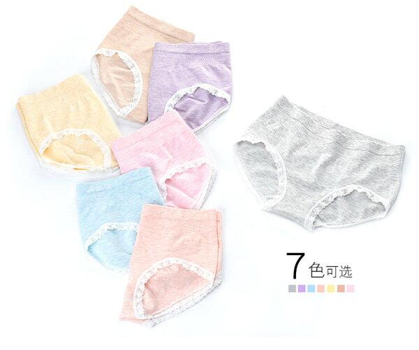 BOBI:內褲蕾絲花邊莫代爾混紡無縫中腰內褲【EK8813】BOBI0118