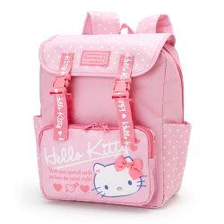 大賀屋 Hello Kitty 後背包 書包 雙肩包 登山包 背包 日貨 三麗鷗 凱蒂貓 KT 正版 L00010422