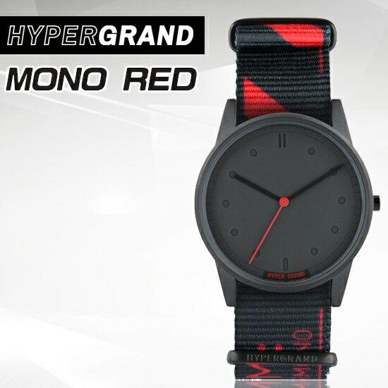 Hypergrand新加坡設計師品牌- 01基本款系列 - LO-FI MONO RED單紅金屬腕錶NW01M0N0公司貨