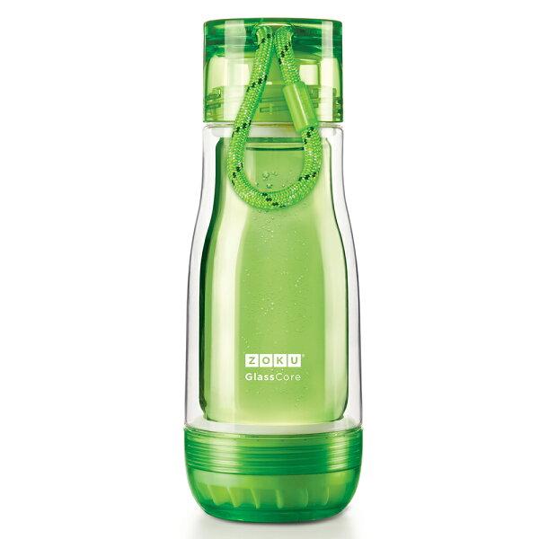【麗嬰房】ZOKU繽紛玻璃雙層隨身瓶-355ml(綠色)
