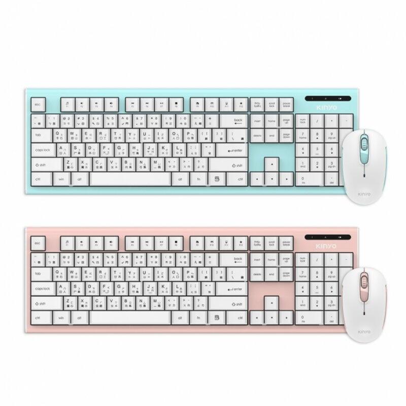 KINYO 2.4GHz無線鍵鼠組GKBM-883無線鍵盤滑鼠組2.4G 無線鍵盤滑鼠組【HA350】 123便利屋