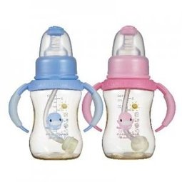 酷咕鴨防脹氣PES 成長奶瓶150ml^(藍.粉^)KU~5835 顏色 出貨