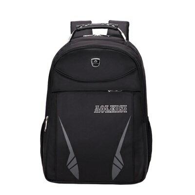 後背包純色電腦包-商務時尚旅行大容量男雙肩包5色73ru21【獨家進口】【米蘭精品】