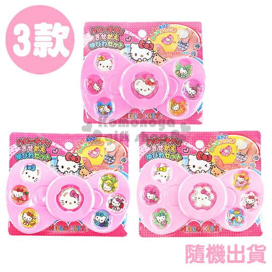 〔小禮堂〕Hello Kitty 戒指玩具組《3款.隨機出貨.粉.蝴蝶結造型.大臉.泡殼》增加親子互動