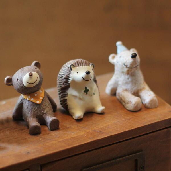 時尚可愛小動物家居擺件創意禮物家居擺設(五入)