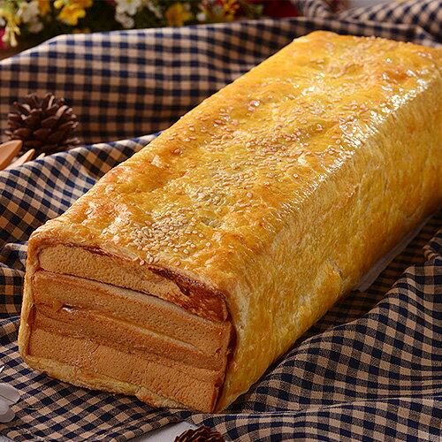 【派特小姐】火腿起酥三明治(免運2條裝)→純手工製作的千層起外皮,包覆特製的三明治,烤出香氣濃郁的酥脆起酥皮 1