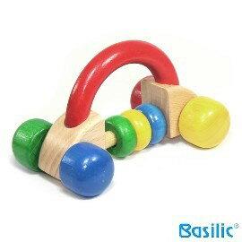 小崴Life親子館【貝喜力克 Basilic】幼兒木環(汽車) 玩具 (D186) 台灣製造 歐規EN-71法規檢驗合格
