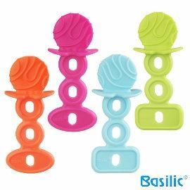 小崴Life親子館【貝喜力克 Basilic】嬰兒固齒器 - 棒棒糖 (D242) (固齒器、固齒玩具、牙齒咬環)