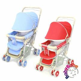 小崴Life親子館 ▼加碼送 雨罩!▼【BabyBabe】雙向手推車/嬰兒車-藍色/紅色 (309)