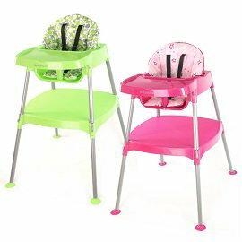 小崴Life親子館【Babybabe】多功能兒童餐桌椅 (田園綠/玫瑰紅)- 兒童餐椅