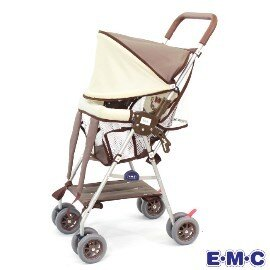 小崴Life親子館【EMC】全罩式輕便揹架車 - 棕色 (1019) 和風棕