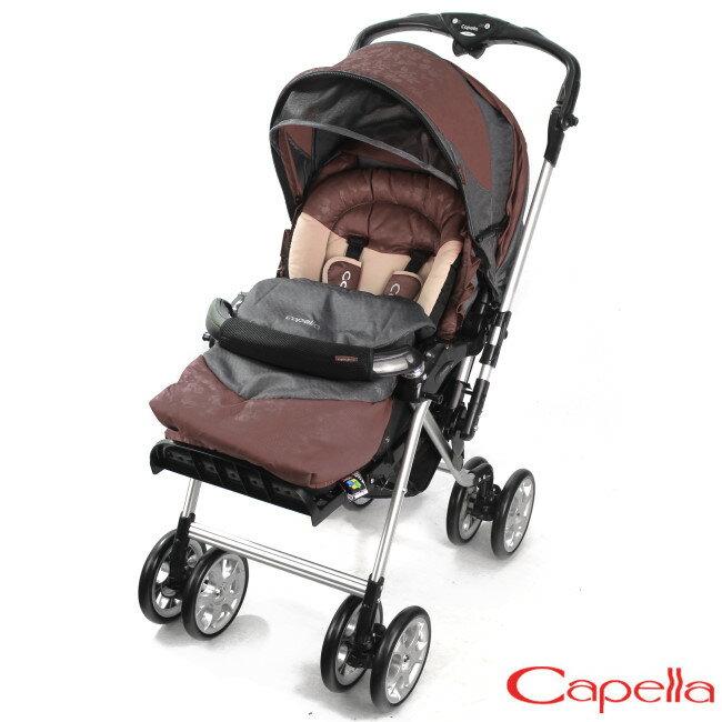 Capella Y1系列 新款旗艦版銀離子抗菌雙向秒收推車(S707)-深咖啡
