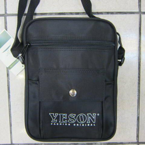 ~雪黛屋~YESON 肩側包 隨身物品專用包高單數防水尼龍布材質耐磨耐用YKK拉鍊零件MIT製造品質保證 #169 黑
