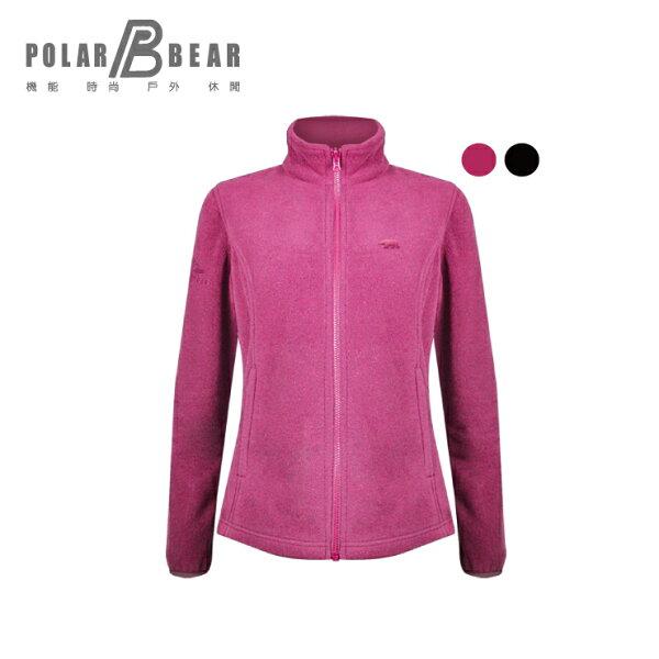 【POLARBEAR】女POLARTECC200刷毛結合保暖外套