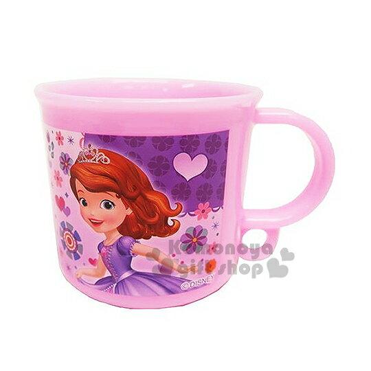 〔小禮堂〕蘇菲亞小公主  日製塑膠小水杯《粉.花.洋裝.愛心》容量約200ml