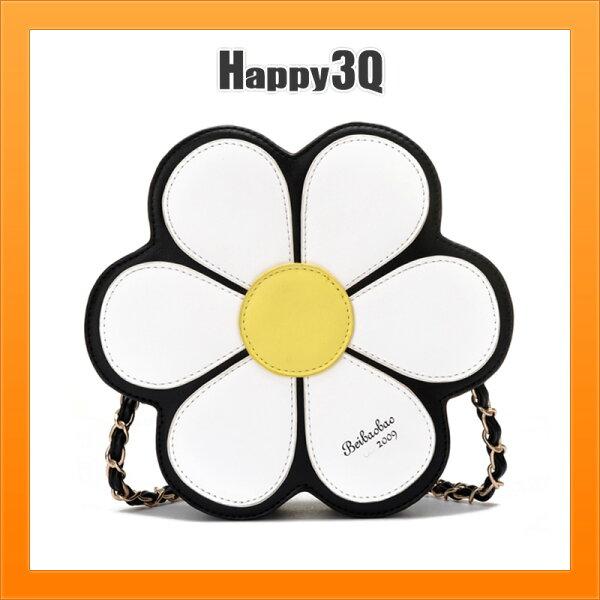 花朵包小圓包花瓣包手提包斜背包鍊條包百搭可愛少女校園-黑藍【AAA3911】