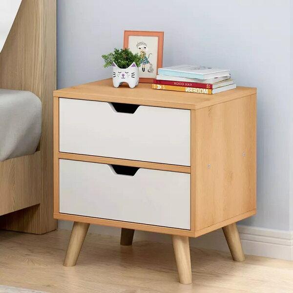 !新生活家具!《歐尼爾》原木色DIY二斗櫃三斗櫃玄關櫃功能櫃置物櫃收纳櫃床頭櫃斗櫃美式古典