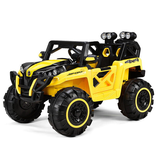 Goplus 12v Kids Ride On Racing Off Road Truck Car Remote Control W Led Light Mp3 Yellow Sold By Costway Rakuten Com Shop