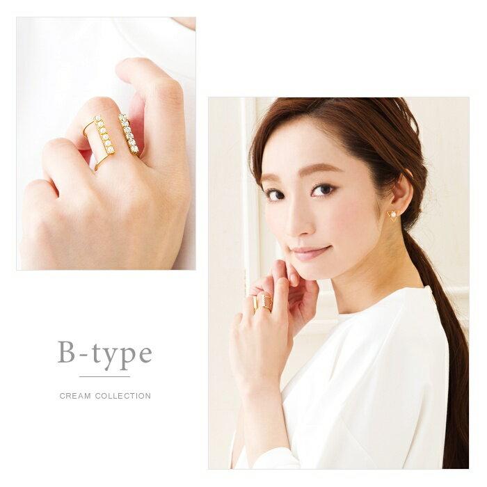 日本CREAM DOT  /  個性鋯石珍珠戒指-a00481-日本必買 日本樂天直送(1078) /  件件含運 6